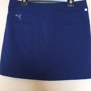 PUMA dark blue golf skirt w/ built in shorts sz 12